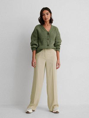 Matiamu By Sofia x NA-KD Recycled Kostymbyxor Med Hög Midja grön omönstrade