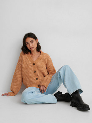 Matiamu By Sofia x NA-KD Stickad Cardigan orange