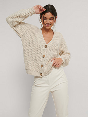 Trendyol Stickad Cardigan beige