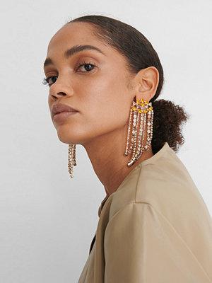 NA-KD Accessories smycke Örhängen Med Strasskedjor multicolor