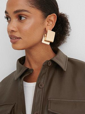 NA-KD Accessories smycke Guldpläterade Chunky Örhängen guld