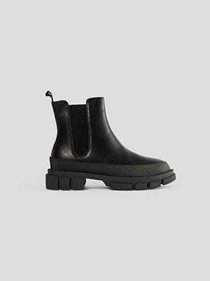 NA-KD Shoes Chunky Boots Med Gummisula svart