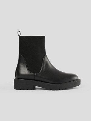 NA-KD Shoes Chelseaboots Med Elastiskt Skaft svart