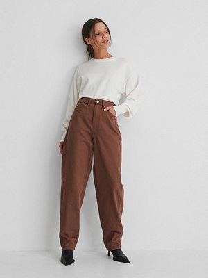 NA-KD Reborn Ekologiska Jeans Med Lös Passform brun