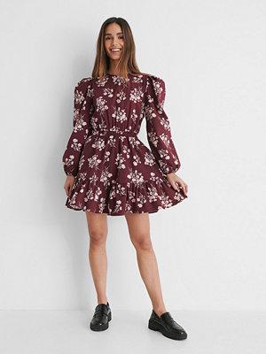 NA-KD Boho Långärmad Skjortklänning Med Elastisk Midja multicolor