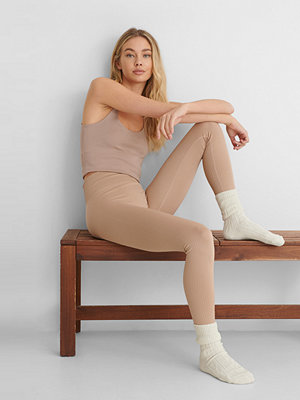 Mango Leggings beige