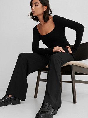 Matiamu By Sofia x NA-KD Recycled Kostymbyxor Med Hög Midja svart svarta