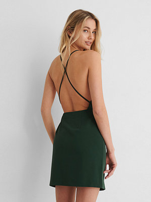 Paola Locatelli x NA-KD Miniklänning Med Korslagda Band Bak grön