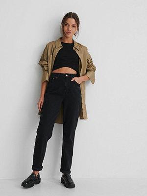 NA-KD Reborn Ekologiska Mom-jeans Med Hög Midja svart