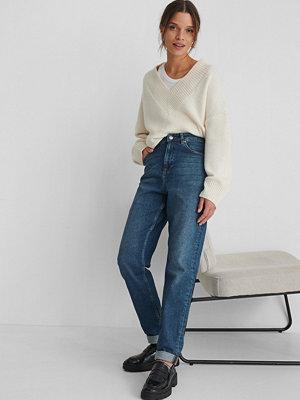 NA-KD Reborn Ekologiska Mom-jeans Med Hög Midja blå
