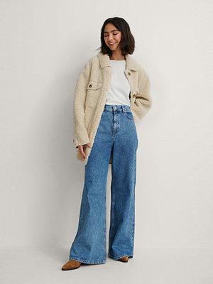 Jeans - NA-KD Reborn Recycled Jeans Med Supervida Ben blå