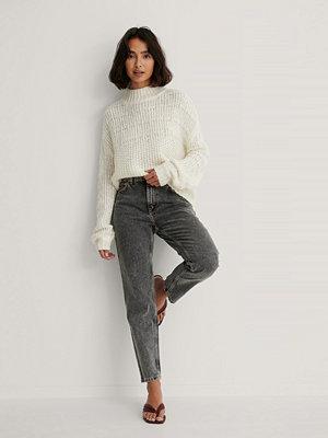 Mango Mom-Jeans Med Hög Midja grå