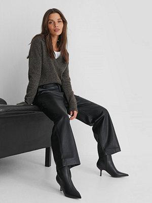 Boots & kängor - NA-KD Shoes Låga Spetsiga Stilettboots svart
