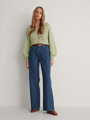 Jeans - Trendyol Jeans Med Hög Midja Och Vida Ben blå