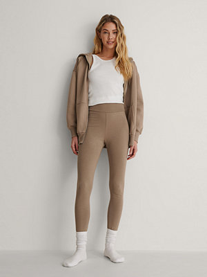 NA-KD Basic Leggings brun