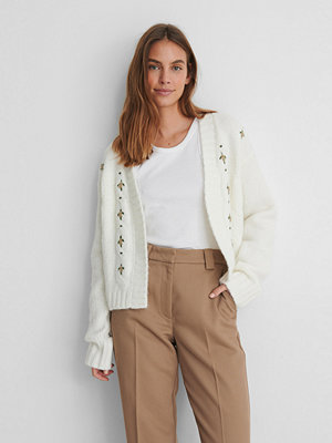 NA-KD Trend Stickad Cardigan offvit