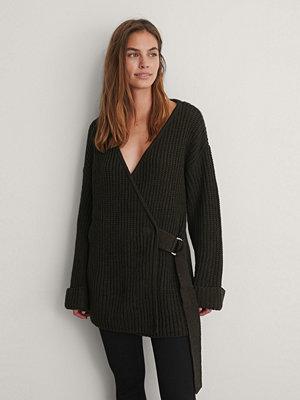 NA-KD Trend Stickad Cardigan brun