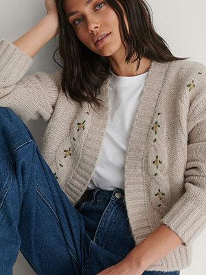 NA-KD Trend Stickad Cardigan grå