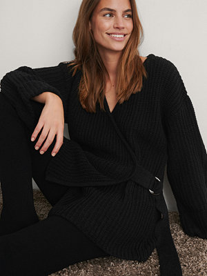 NA-KD Trend Stickad Cardigan svart