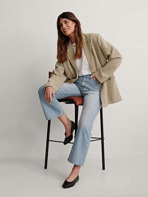 Jeans - NA-KD Reborn Ekologiska Jeans Med Hög Midja blå