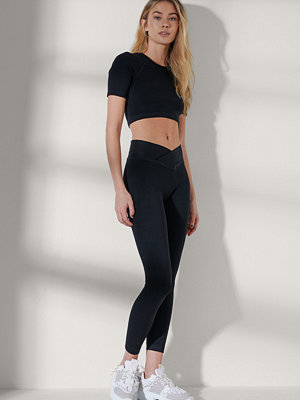 Leggings & tights - NA-KD Flow Leggings svart