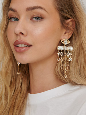 NA-KD Accessories smycke Oversize Glass Drop Earrings guld