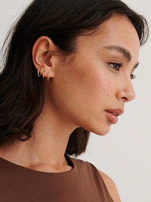 NA-KD Accessories smycke Hoops-Örhängen guld