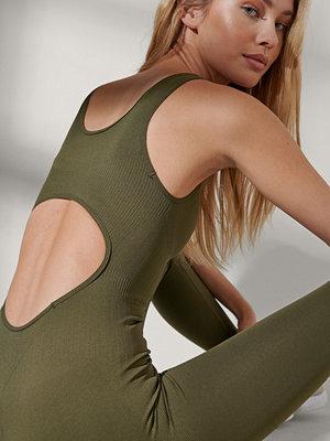 NA-KD Flow Bodysuit grön