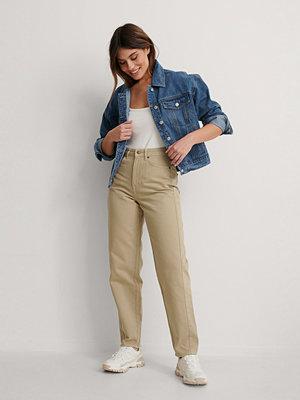 NA-KD Reborn Ekologiska Jeans Med Lös Passform beige