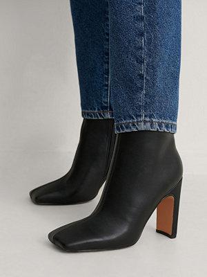 Boots & kängor - NA-KD Shoes Ankelboots svart