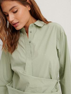NA-KD Trend Ekologisk Skjorta Med Knappar grön