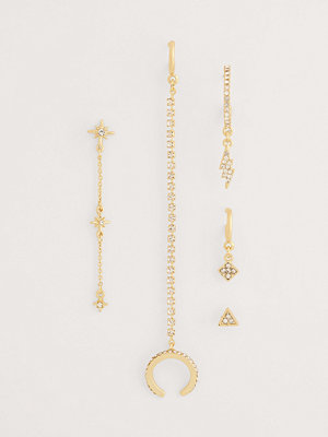 NA-KD Accessories smycke Recycled Örhängesset guld