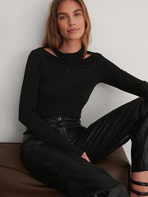 NA-KD Trend Jersey-Topp svart