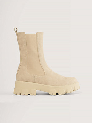 NA-KD Shoes Stövlar Med Elastiska Skaft beige