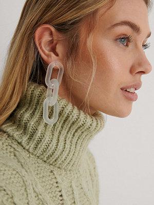 NA-KD Accessories smycke Kedjeörhängen vit