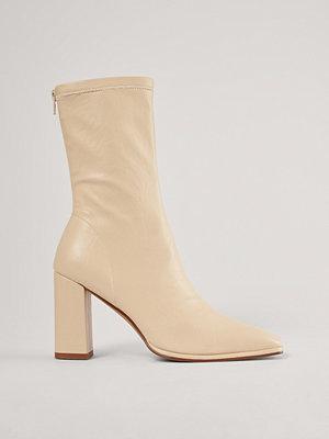 Boots & kängor - NA-KD Shoes Boots Med Fyrkantig Tå offvit