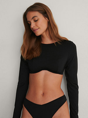 Bikini - NA-KD Swimwear Recycled Topp svart