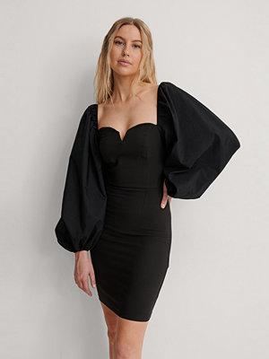 Trendyol Miniklänning Med Ballongärmar svart