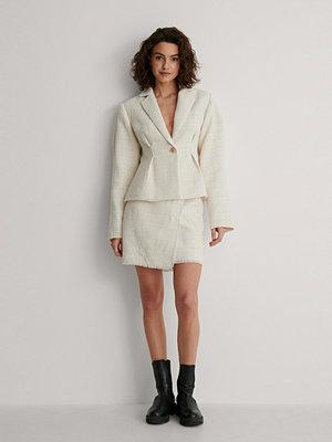 Kjolar - NA-KD Classic Minikjol I Tweed beige