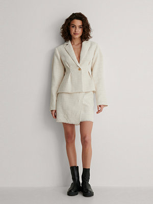 NA-KD Classic Minikjol I Tweed beige