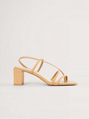 NA-KD Shoes Högklackade Skor Med Remmar beige