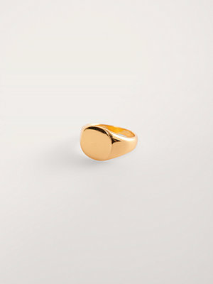 NA-KD Accessories smycke Gold Plated Signet Ring guld