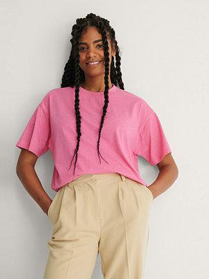 NA-KD Basic Ekologisk Oversize T-shirt rosa