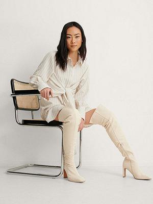 Boots & kängor - NA-KD Shoes Cancas Overknees beige