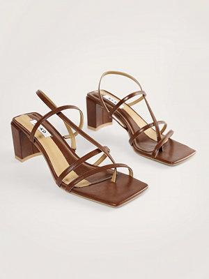 NA-KD Shoes Högklackade Skor Med Remmar brun