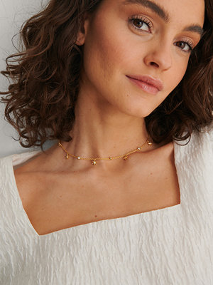 NA-KD Accessories smycke Halsband Med Glittrande Kedja guld