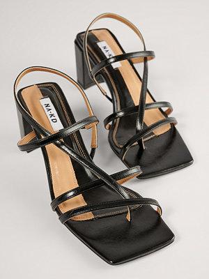 NA-KD Shoes Högklackade Skor Med Remmar svart