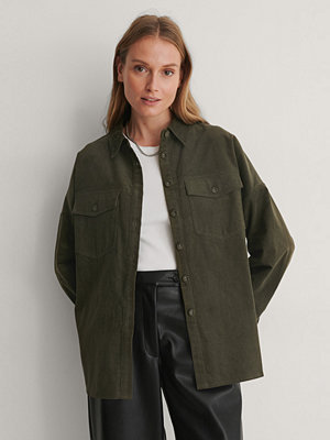 NA-KD Oversize Skjorta grön