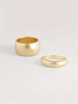 NA-KD Accessories smycke Dubbelpack Tjocka Ringar guld