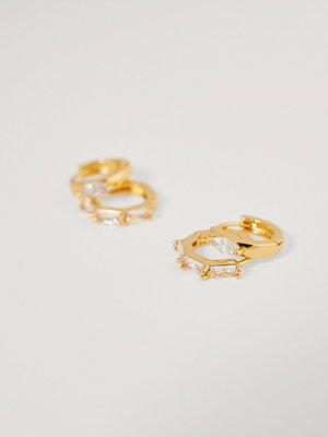 NA-KD Accessories smycke Glitrrigt Minihoop-Set guld